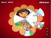 Dora The Explorer Round Puzzle
