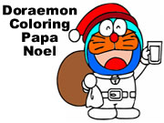 Doraemon Coloring Papa Noel