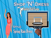 Shop N Dress Basket Ball Game: Spring Rain Dress