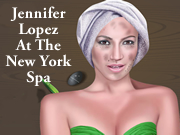 Jennifer Lopez At The New York Spa