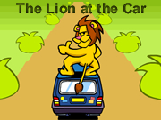 Lion at the Car