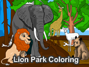 Lion Park Coloring