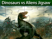 Dinosaurs vs Aliens Jigsaw