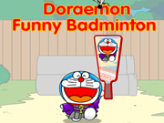Doraemon Funny Badminton
