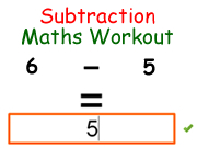 Subtraction Maths Workout