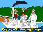Free coloring pages of popeye and olive oyl | Popeye and olive ... | 135x180