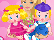 Barbie Twins Babysitter Games