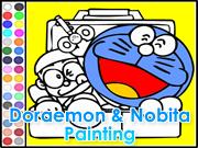 Doraemon and Nobita Painting