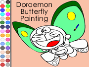 Doraemon Butterfly Painting