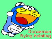 Doraemon Flying Painting