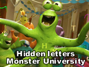 Hidden letters: Monster University