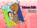 Princess Belle Coloring