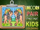 Unicorn Pair Online Kids Coloring