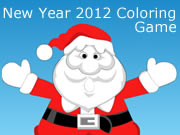 New Year 2012 Coloring Game