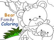 Bear Family Coloring