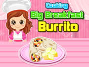 Cooking Big Breakfast Burrito