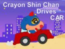 Crayon Shin Chan Drives CAR