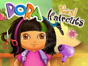 Dora real hair cutting