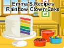 Emma'S Recipes Rainbow Clown Cake