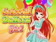 Colorful Balloon Girl
