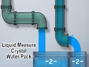 Liquid Measure Crystal Water Pack