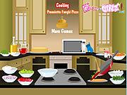 Cooking Prosciutto Funghi Pizza