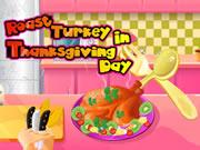 Roast Turkey in Thanksgiving Day