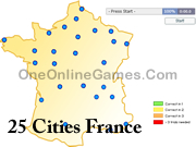 25 Cities France Topography