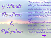 5 Minute De-Stress and amp Relaxation