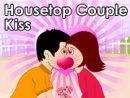 Housetop Couple Kiss