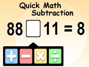 Subtraction Quick Math