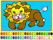 Coloring of a Lion