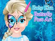 Baby Elsa Butterfly Face Art