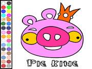 Colorear Pig King