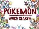 Pokemon Word Search